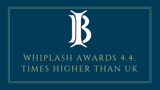 Whiplash Award 4.4 Times Higher Than In The UK